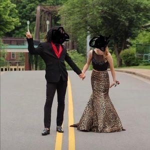 Sherri Hill 2 piece Elegant Prom Dress Leopard 🐆